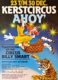 Kerstcircus Ahoy' Circus poster - Netherlands, 1982