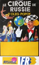 Le Cirque De Russie d'Oleg Popov Circus poster - Russia, 1992