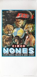 Circo Nones Circus poster - Italy, 1971