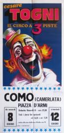 Circo Cesare Togni Circus poster - Italy, 1984