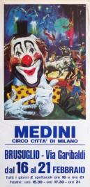 Medini - Circo Citta' Di Milano Circus poster - Italy, 1984