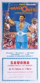 Circo Nando Orfei Circus poster - Italy, 1986