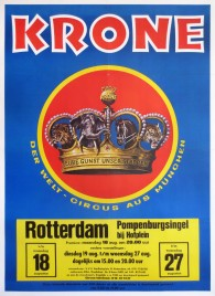 Circus Krone Circus poster - Germany, 1975