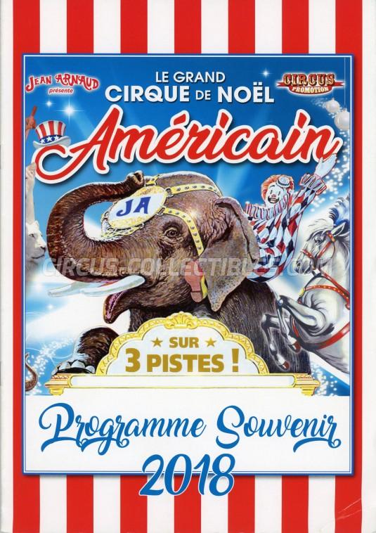 Le Grand Cirque de Noël Américain Circus Program - France, 2018