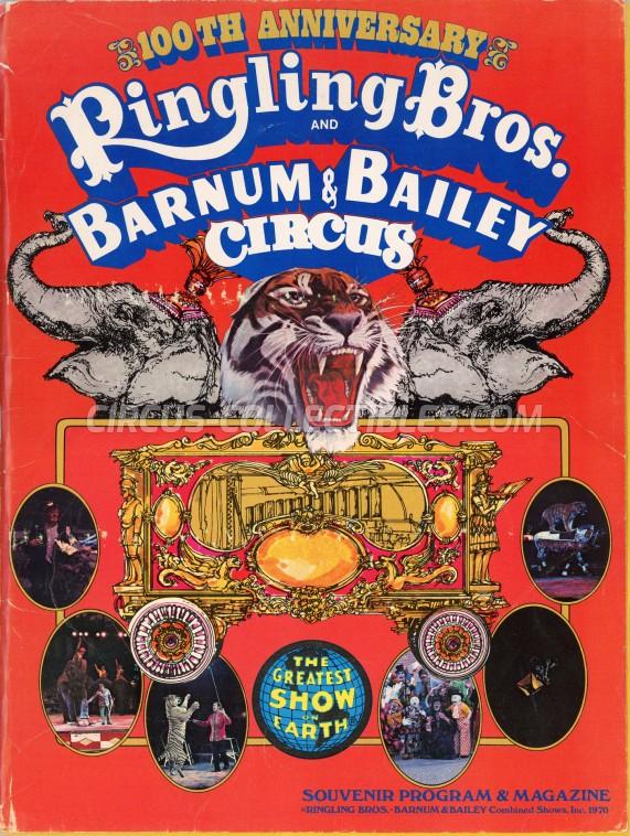 Ringling Bros. and Barnum & Bailey Circus Circus Program - USA, 1970