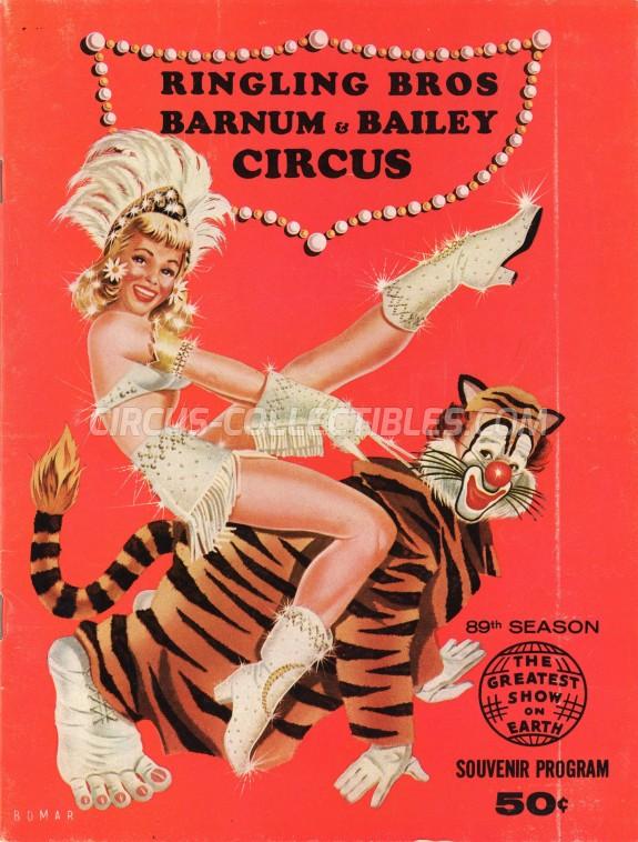 Ringling Bros. and Barnum & Bailey Circus Circus Program - USA, 1959
