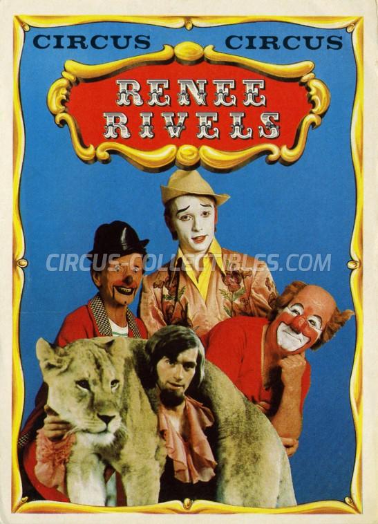 Rivels Circus Ticket/Flyer -  1978