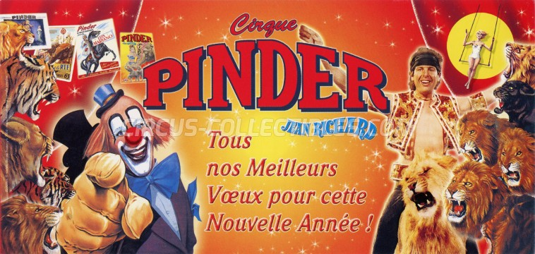 Pinder - Jean Richard Circus Ticket/Flyer -  2004