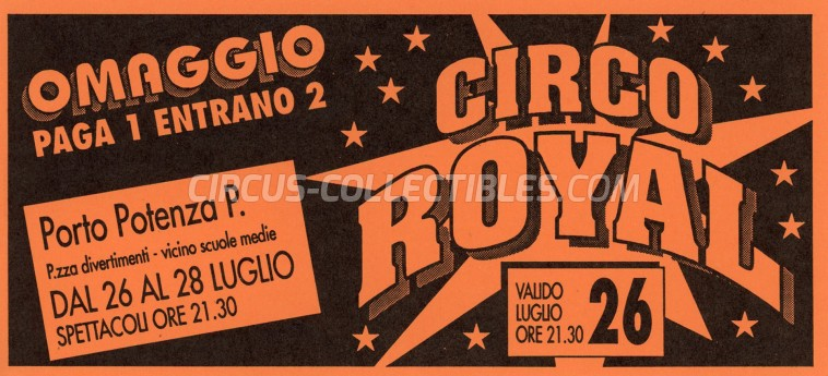 Royal (IT) Circus Ticket/Flyer - Italy 0