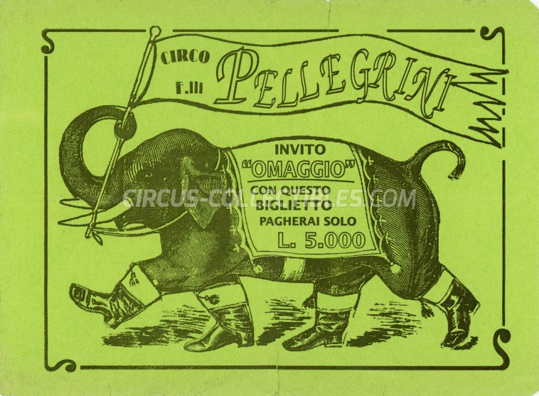Pellegrini Circus Ticket/Flyer -  0