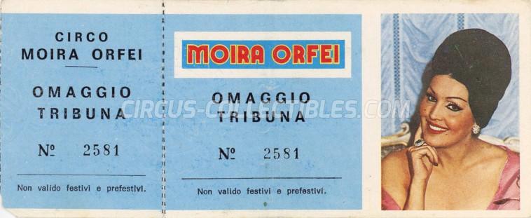 Moira Orfei Circus Ticket/Flyer -  0
