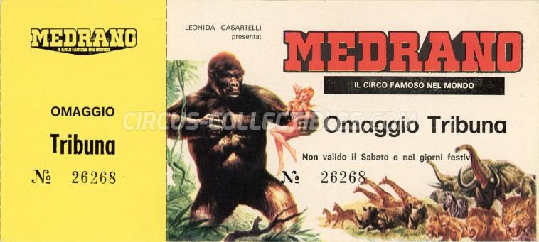 Medrano (Casartelli) Circus Ticket/Flyer -  1982