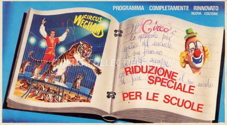 Wegliams Circus Ticket/Flyer -  0