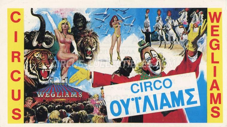Wegliams Circus Ticket/Flyer - Greece 0