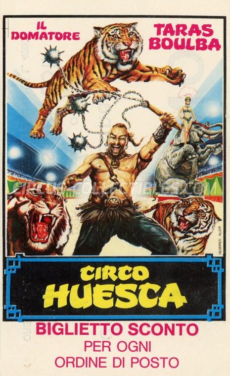 Huesca Circus Ticket/Flyer - Italy 1984