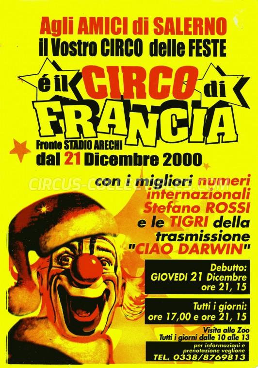 Circo di Francia Circus Ticket/Flyer - Italy 2000