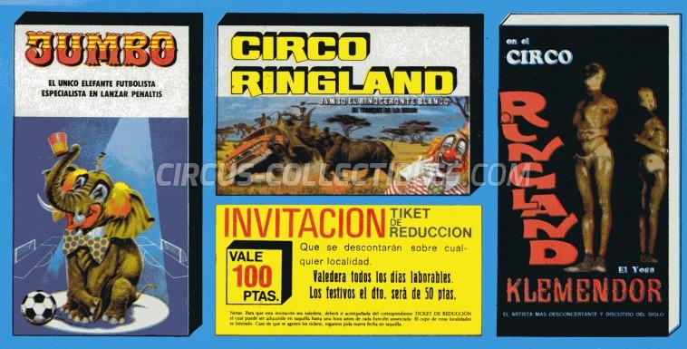 Ringland Circus Ticket/Flyer -  0