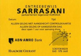 Circus Sarrasani Circus Ticket - 1968