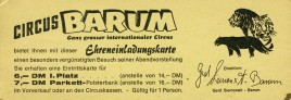 Circus Barum Circus Ticket - 0