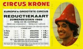 Circus Krone Circus Ticket - 1985
