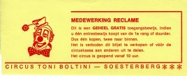 Circus Toni Boltini Circus Ticket - 0