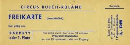 Circus Busch-Roland Circus Ticket - 0