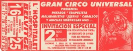 Gran Circo Universal Circus Ticket - 0