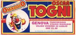 Circo Oscar Togni Circus Ticket - 1994