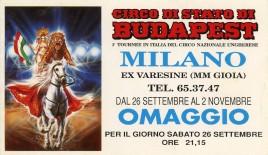Circo di Stato di Budapest Circus Ticket - 1992
