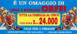 Circo Lena e Rinaldo Orfei Circus Ticket - 0