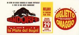 Circo Nando Orfei Circus Ticket - 1992