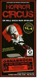 Horror Circus Circus Ticket - 2014