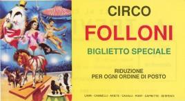 Circo Folloni Circus Ticket - 1989