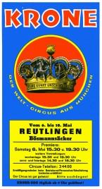 Circus Krone Circus Ticket - 1978