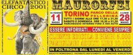 Circo Mauro Orfei Circus Ticket - 2001