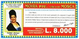 Moira piu' il Circo di Mosca Circus Ticket - 1989