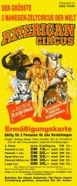 American Circus Circus Ticket - 1992