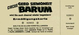Circus Barum Circus Ticket - 0
