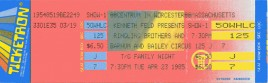 Ringling Bros. and Barnum & Bailey Circus Circus Ticket - 1985