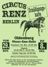 Circus Renz Berlin Circus Ticket - 0