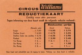 Circus Williams Circus Ticket - 1961