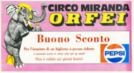 Circo Miranda Orfei Circus Ticket - 1985